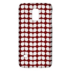 Red And White Leaf Pattern Samsung Galaxy S5 Mini Hardshell Case