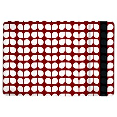 Red And White Leaf Pattern Apple iPad Air 2 Flip Case