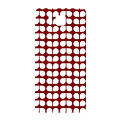 Red And White Leaf Pattern Samsung Galaxy Alpha Hardshell Back Case