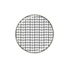 Gray And White Leaf Pattern Golf Ball Marker (for Hat Clip)