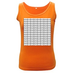 Gray And White Leaf Pattern Women s Tank Top (dark Colored)