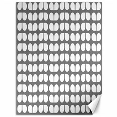 Gray And White Leaf Pattern Canvas 36  X 48  (unframed)