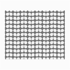 Gray And White Leaf Pattern Glasses Cloth (small, Two Sided)