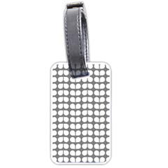 Gray And White Leaf Pattern Luggage Tag (one Side)