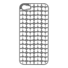 Gray And White Leaf Pattern Apple Iphone 5 Case (silver)
