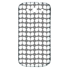 Gray And White Leaf Pattern Samsung Galaxy S3 S Iii Classic Hardshell Back Case