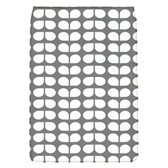 Gray And White Leaf Pattern Removable Flap Cover (small)
