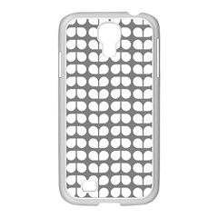 Gray And White Leaf Pattern Samsung GALAXY S4 I9500/ I9505 Case (White)