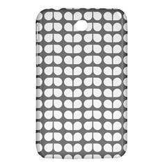 Gray And White Leaf Pattern Samsung Galaxy Tab 3 (7 ) P3200 Hardshell Case