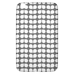 Gray And White Leaf Pattern Samsung Galaxy Tab 3 (8 ) T3100 Hardshell Case