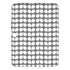 Gray And White Leaf Pattern Samsung Galaxy Tab 3 (10 1 ) P5200 Hardshell Case