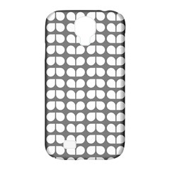 Gray And White Leaf Pattern Samsung Galaxy S4 Classic Hardshell Case (pc+silicone)