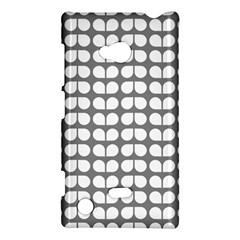 Gray And White Leaf Pattern Nokia Lumia 720 Hardshell Case