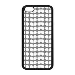 Gray And White Leaf Pattern Apple Iphone 5c Seamless Case (black)