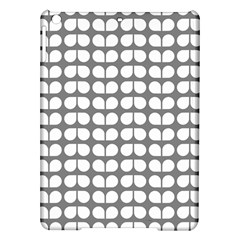 Gray And White Leaf Pattern Apple iPad Air Hardshell Case