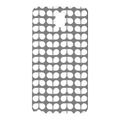 Gray And White Leaf Pattern Samsung Galaxy Note 3 N9005 Hardshell Back Case