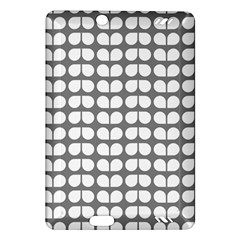 Gray And White Leaf Pattern Kindle Fire Hd (2013) Hardshell Case