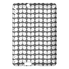Gray And White Leaf Pattern Kindle Fire HDX Hardshell Case