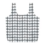 Gray And White Leaf Pattern Reusable Bag (L) Back