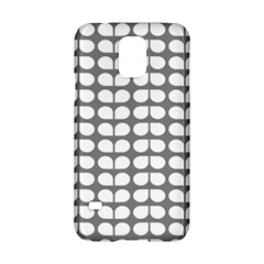 Gray And White Leaf Pattern Samsung Galaxy S5 Hardshell Case