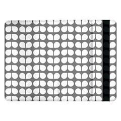 Gray And White Leaf Pattern Samsung Galaxy Tab Pro 12.2  Flip Case