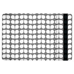 Gray And White Leaf Pattern Apple iPad Air Flip Case