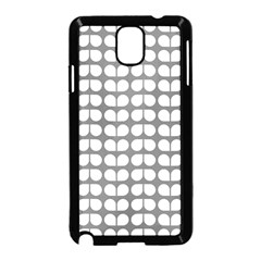 Gray And White Leaf Pattern Samsung Galaxy Note 3 Neo Hardshell Case (Black)