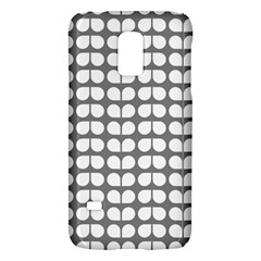 Gray And White Leaf Pattern Samsung Galaxy S5 Mini Hardshell Case