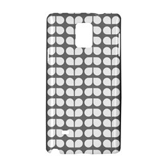 Gray And White Leaf Pattern Samsung Galaxy Note 4 Hardshell Case