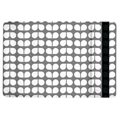 Gray And White Leaf Pattern Apple Ipad Air 2 Flip Case