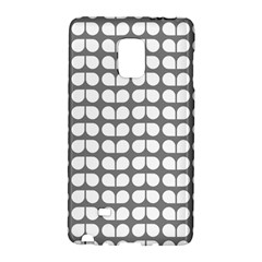 Gray And White Leaf Pattern Samsung Galaxy Note Edge Hardshell Case