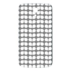 Gray And White Leaf Pattern Samsung Galaxy Mega I9200 Hardshell Back Case