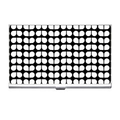 Black And White Leaf Pattern Business Card Holder