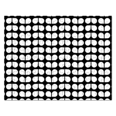 Black And White Leaf Pattern Jigsaw Puzzle (rectangle)