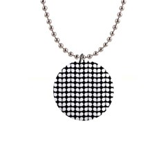 Black And White Leaf Pattern Button Necklace