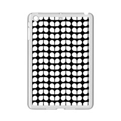 Black And White Leaf Pattern Apple iPad Mini 2 Case (White)