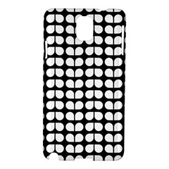 Black And White Leaf Pattern Samsung Galaxy Note 3 N9005 Hardshell Case