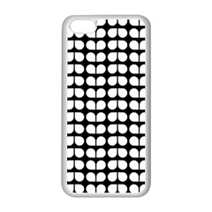 Black And White Leaf Pattern Apple Iphone 5c Seamless Case (white)