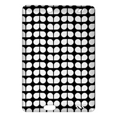 Black And White Leaf Pattern Kindle Fire HD (2013) Hardshell Case