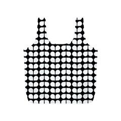 Black And White Leaf Pattern Reusable Bag (S)
