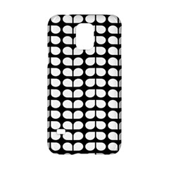 Black And White Leaf Pattern Samsung Galaxy S5 Hardshell Case