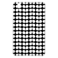 Black And White Leaf Pattern Samsung Galaxy Tab Pro 8 4 Hardshell Case