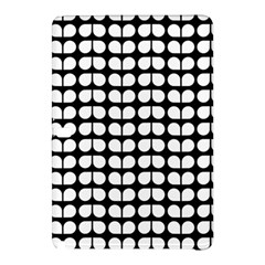 Black And White Leaf Pattern Samsung Galaxy Tab Pro 12 2 Hardshell Case