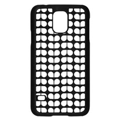 Black And White Leaf Pattern Samsung Galaxy S5 Case (black)
