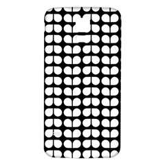 Black And White Leaf Pattern Samsung Galaxy S5 Back Case (White)