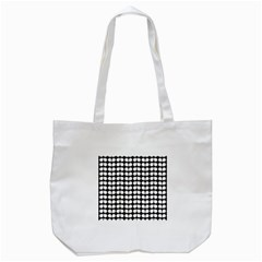 Black And White Leaf Pattern Tote Bag (White)