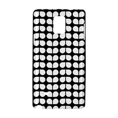 Black And White Leaf Pattern Samsung Galaxy Note 4 Hardshell Case