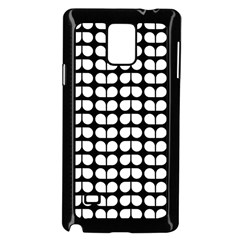 Black And White Leaf Pattern Samsung Galaxy Note 4 Case (Black)