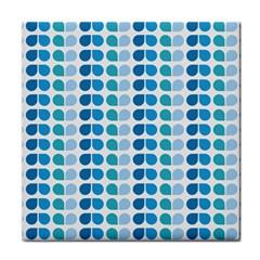 Blue Green Leaf Pattern Ceramic Tile