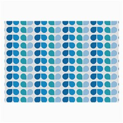 Blue Green Leaf Pattern Glasses Cloth (large, Two Sided)